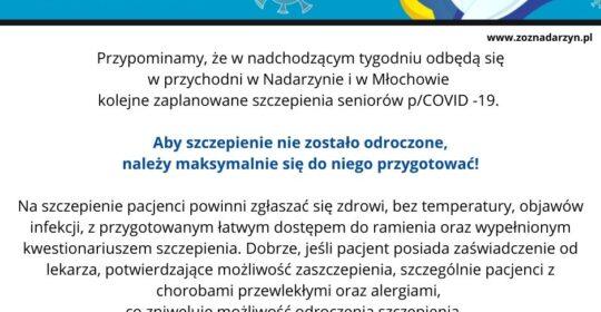 Przygotowanie do szczepienia p/COVID-19