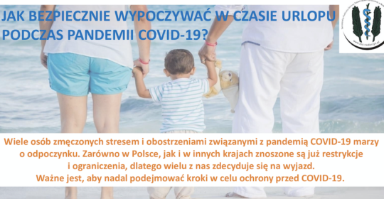 Bezpieczny urlop w czasie pandemii COVID-19