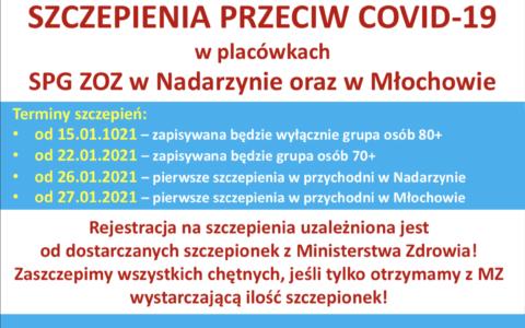Startujemy z zapisami na szczepienia przeciwko COVID-19